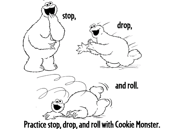 Stop Drop And Roll Worksheet stop drop and roll coloring pages ...
